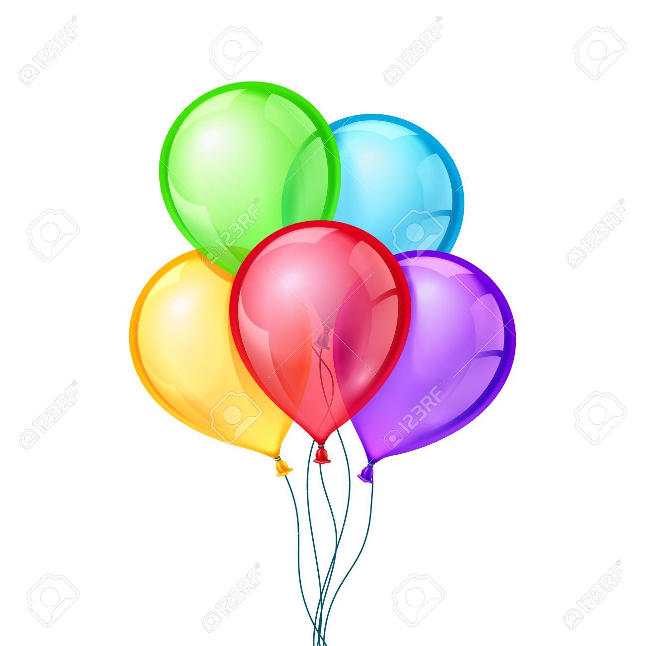 celebratory vetor balloons on isolated transparent background