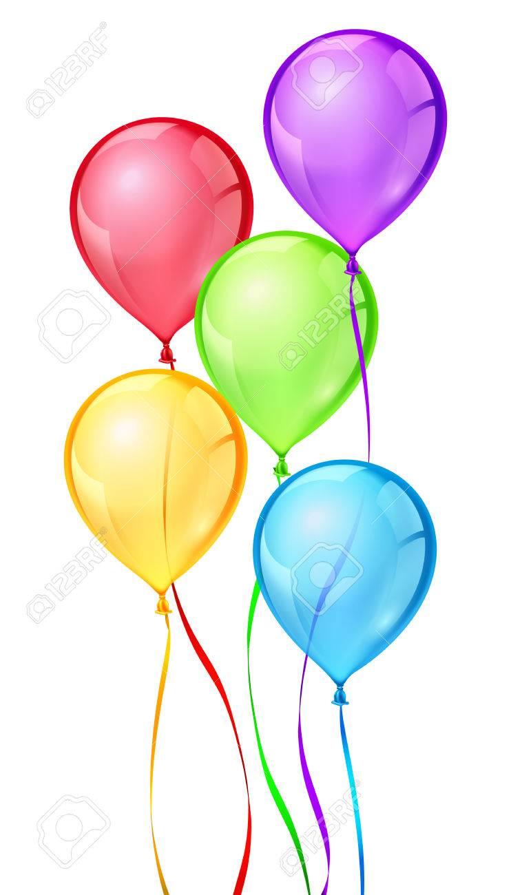 Couleur Vecteur Ballons De Fete D Anniversaire Anniversaire Balloon Celebrer Bithday Ruban D Air En Montgolfiere Le Caoutchouc Helium Ballon Boule Air Illustration Clip Art Libres De Droits Vecteurs Et Illustration Image 58738429