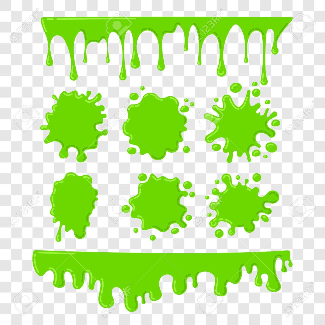 緑のスライムのベクトルを市松模様の背景を透明に設定ペイント