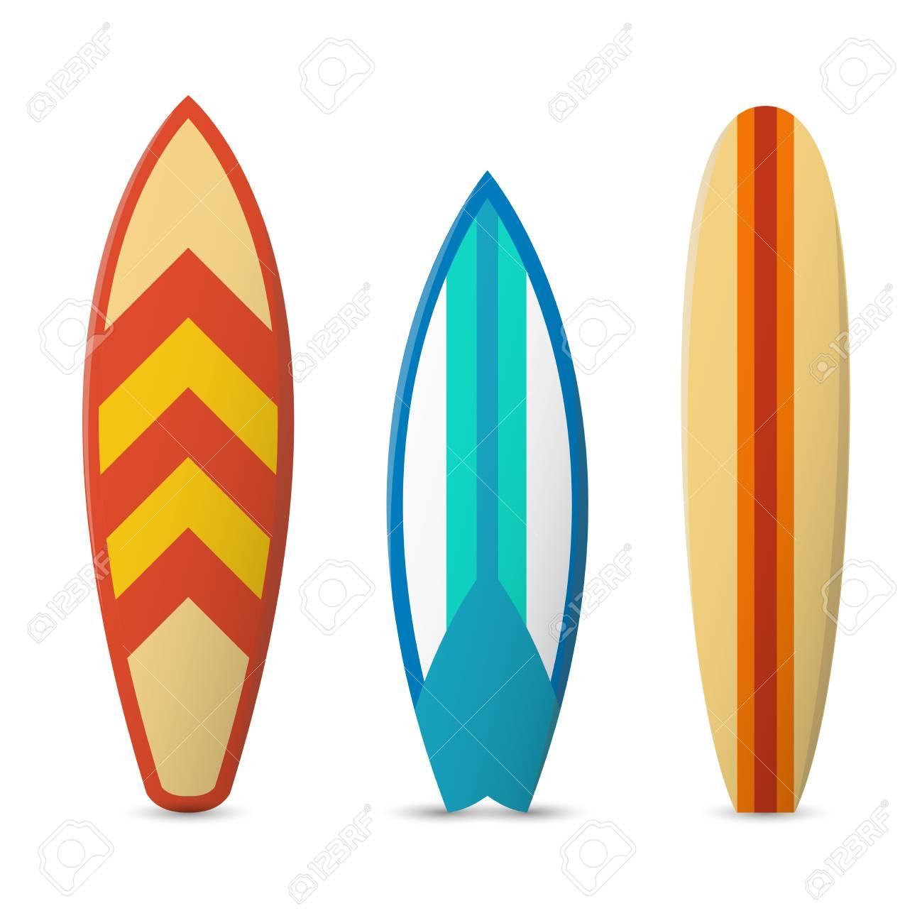 color surfboard set sea extreme sport pattern vector illustration rh 123rf com surfboard vector graphic surf board vector free download