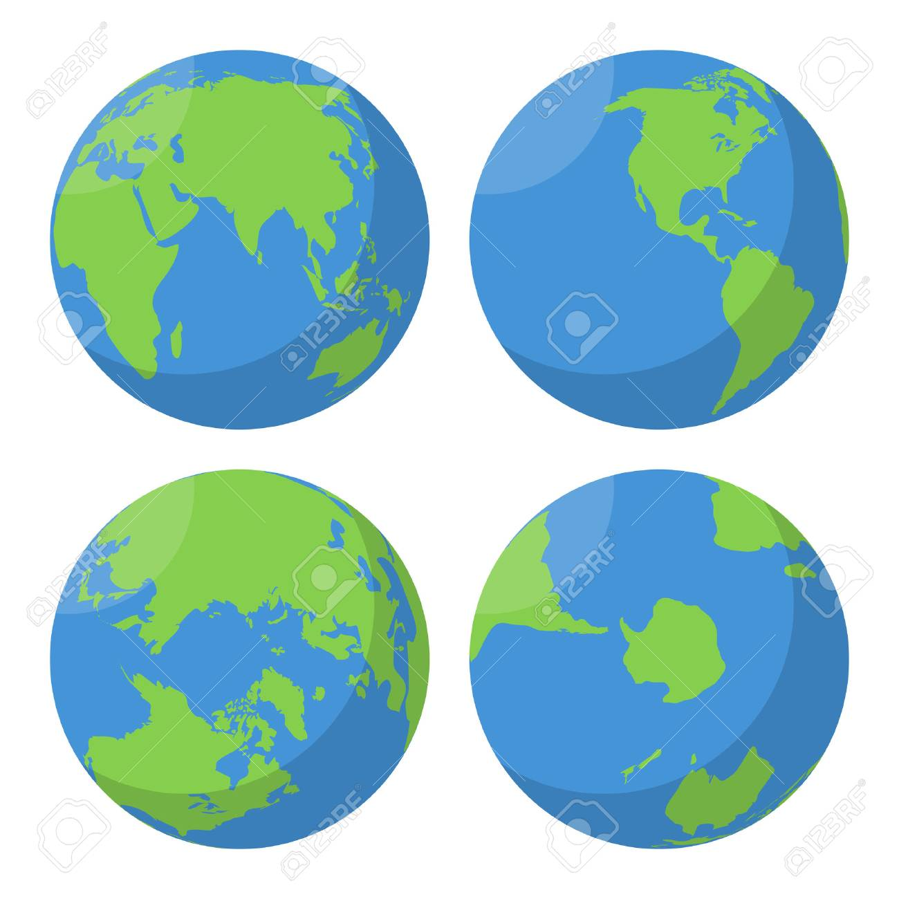 flat earth globe vector icons set planet map world illustration rh 123rf com globe vector black and white globe vector art