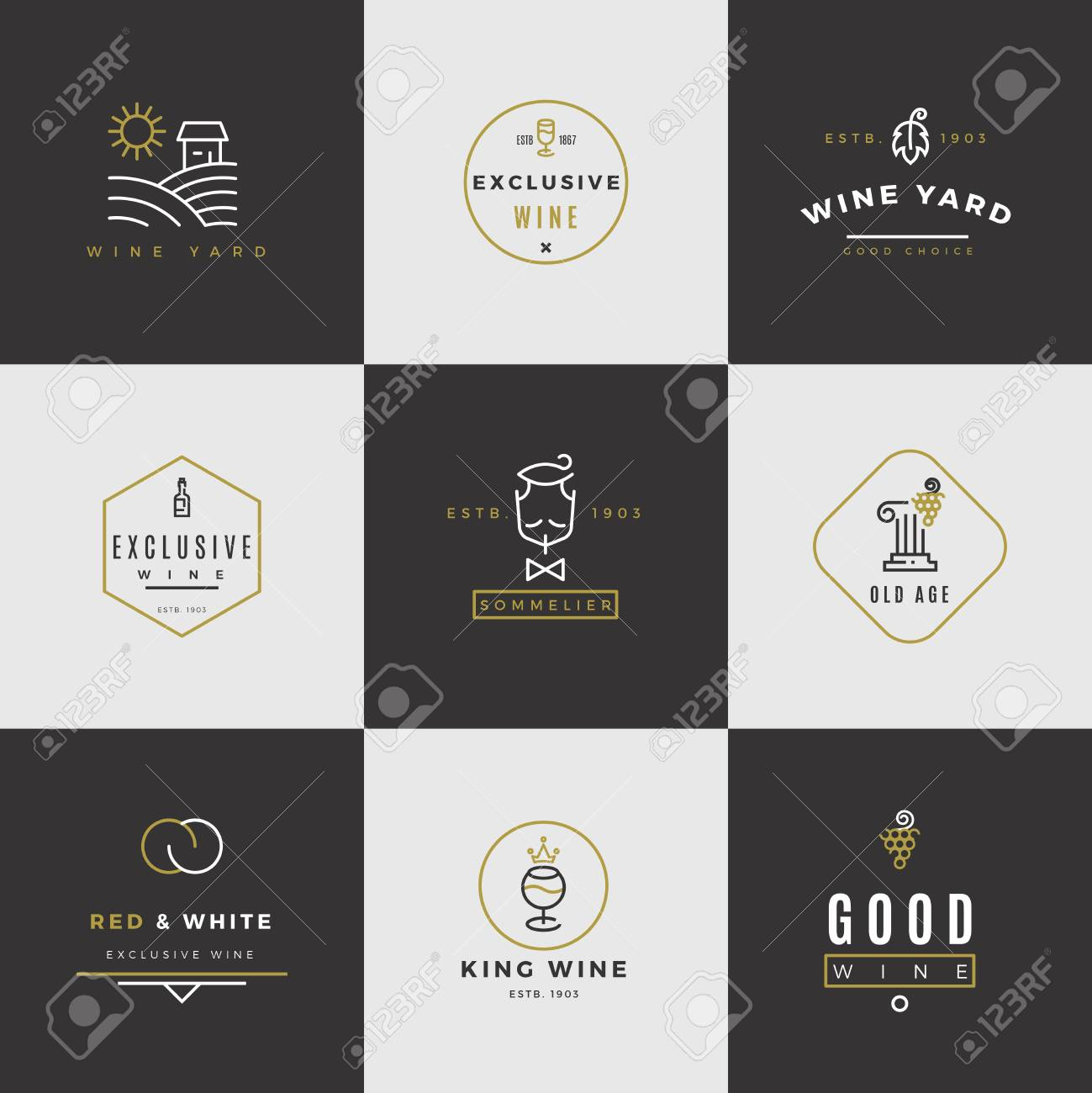 jeux d alcool avec carte Jeu De Cartes Vectorielles. Emblèmes De Menu D'alcool Avec Des