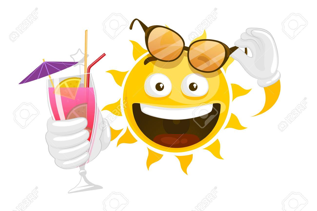 cartoon sun vector summer cartoon smiley sun character smiley rh 123rf com summer sun vector art Summer Sun Silhouette