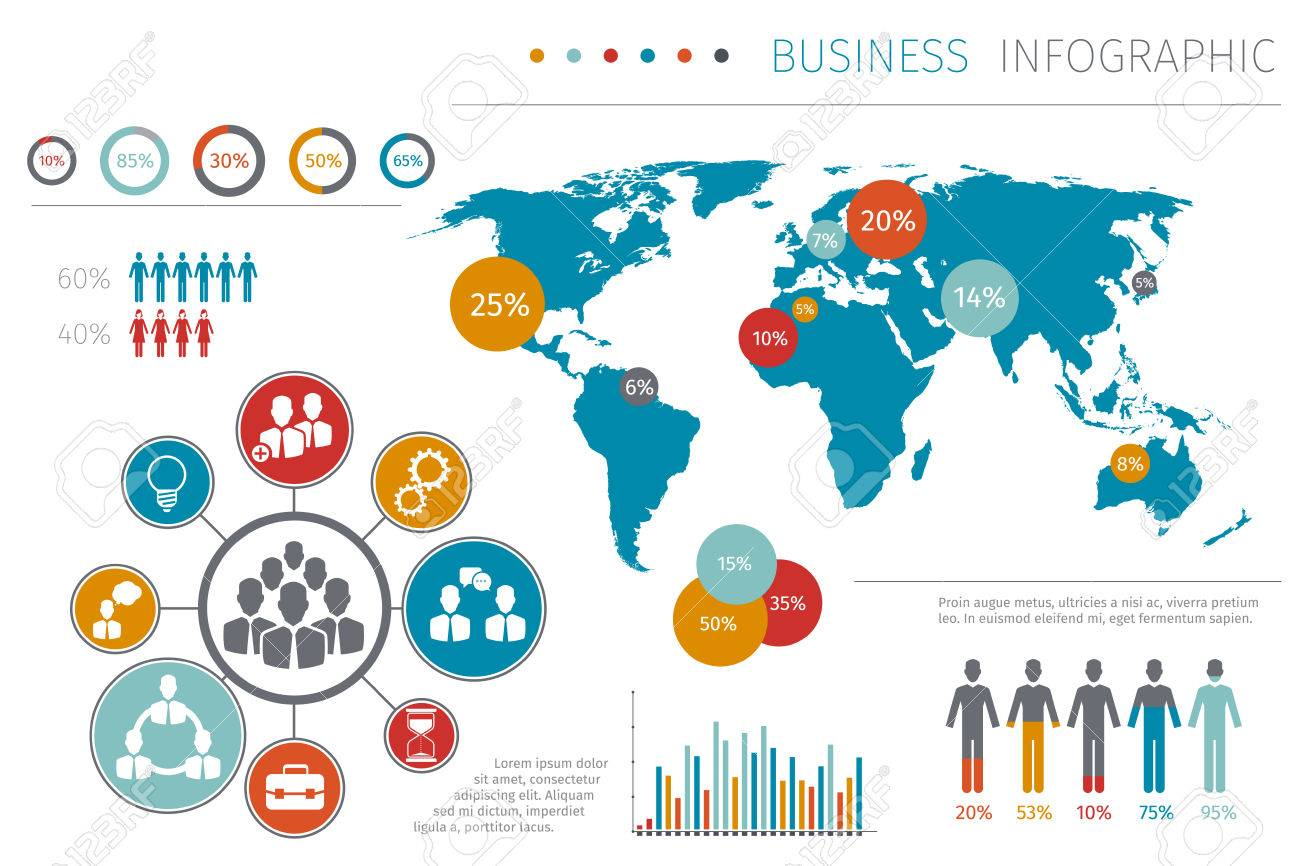 Business people world map infographic vector illustration business people world map infographic vector illustration business map with element graphic and chart gumiabroncs Gallery