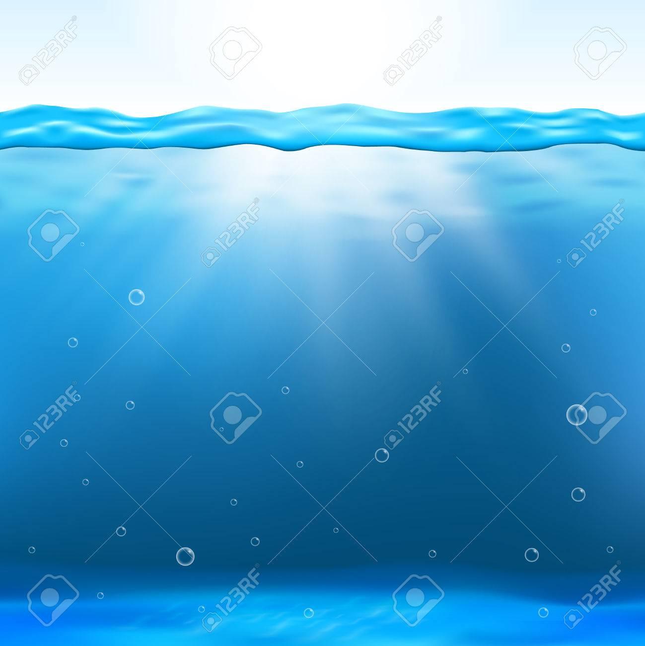 190cd1c7ef Foto de archivo - Ilustración vector visión bajo el agua. fondo limpio bajo  el agua y profundo bajo el agua con el rayo de sol