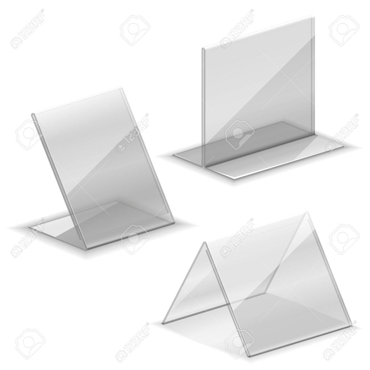 Acrylic Vector Empty Plastic Holder For Business Card. Holder ...