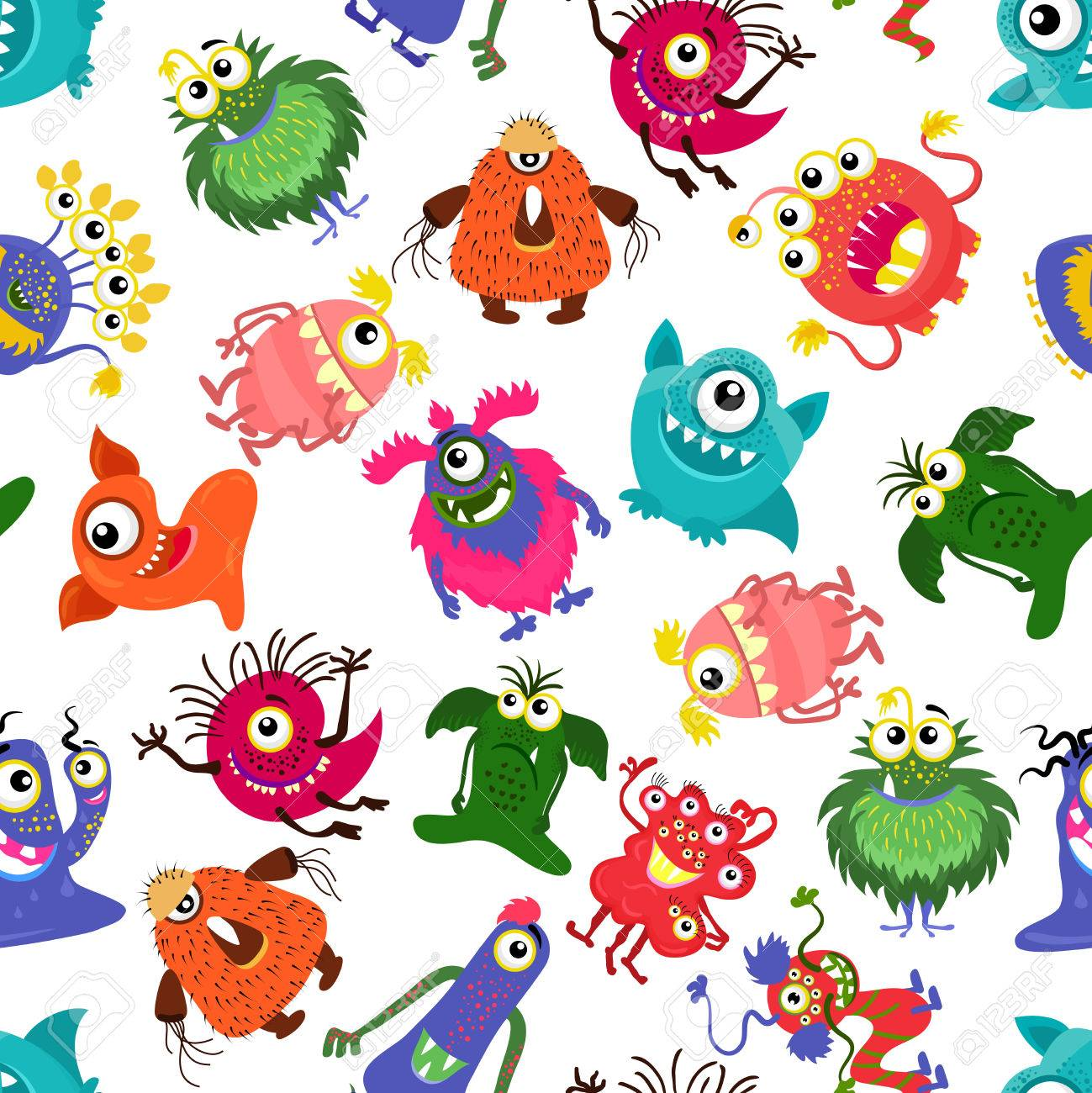Cute Vector Seamless Colorful ...