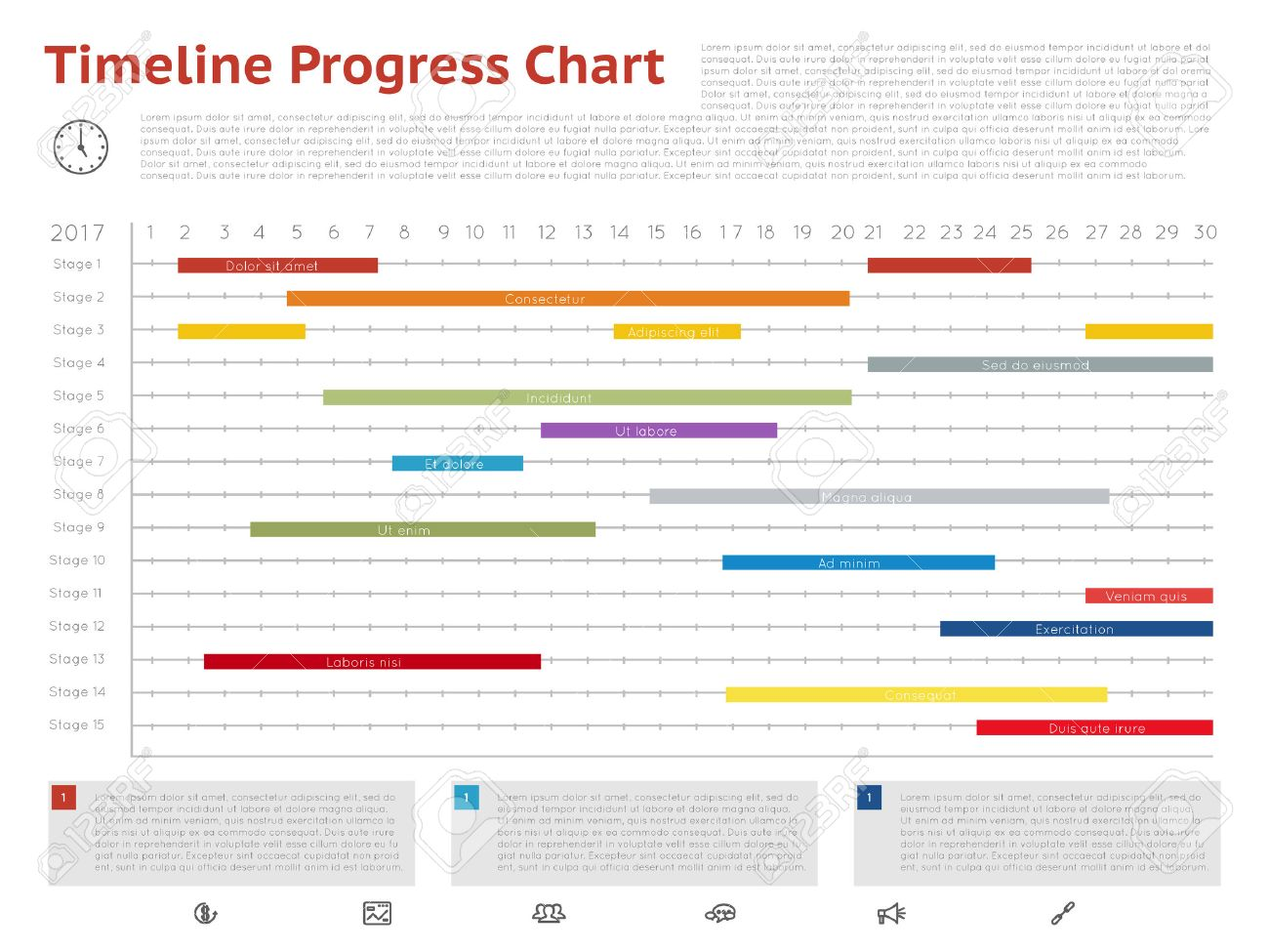 Vector timeline progress graph gantt chart of project gantt vector vector timeline progress graph gantt chart of project gantt plan chart and timeline with ganttchart illustration ccuart Choice Image