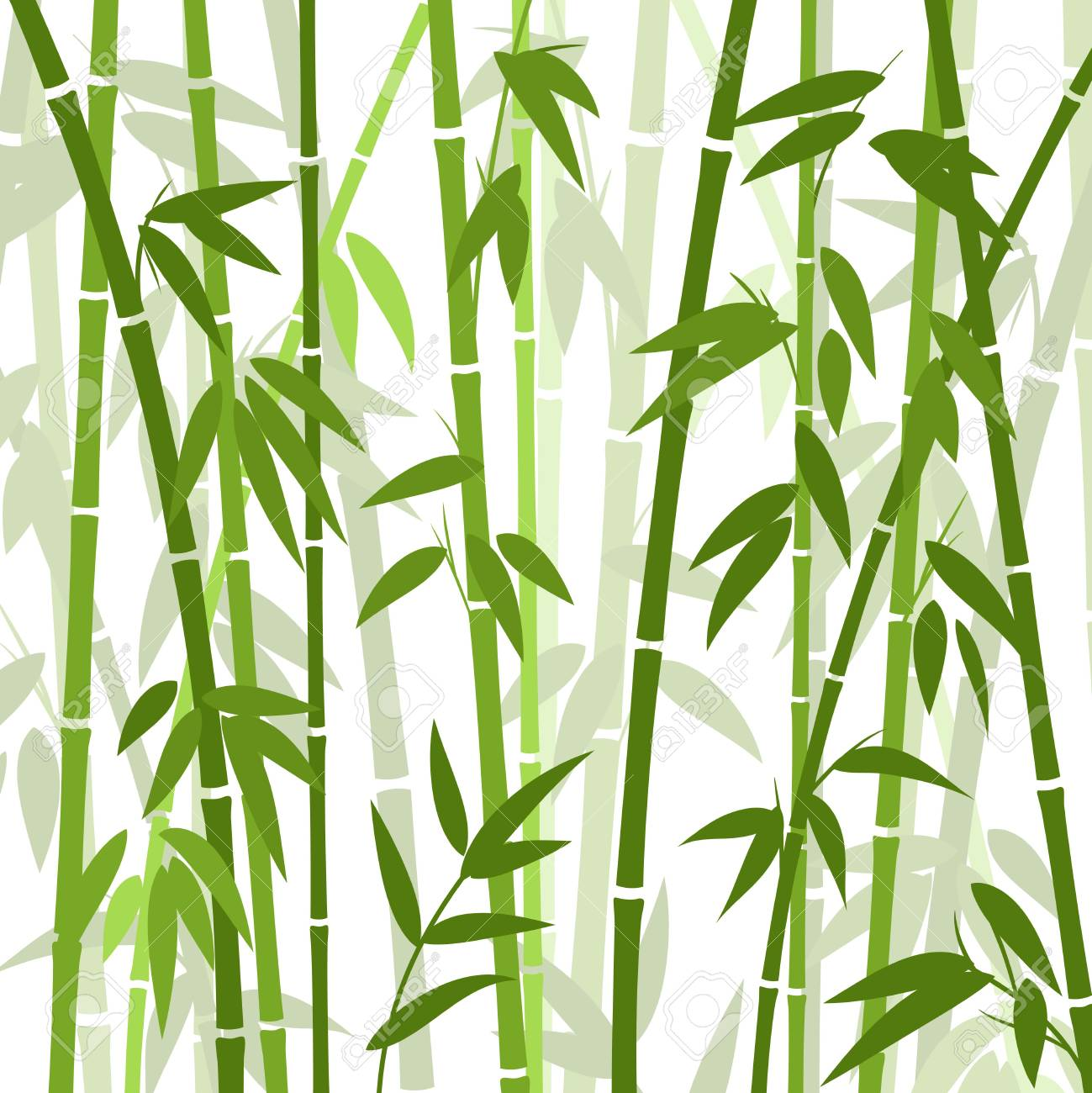 Chinese Or Japanese Bamboo Grass Oriental Wallpaper Vector Illustration Royalty Free Cliparts Vectors And Stock Illustration Image 69538595
