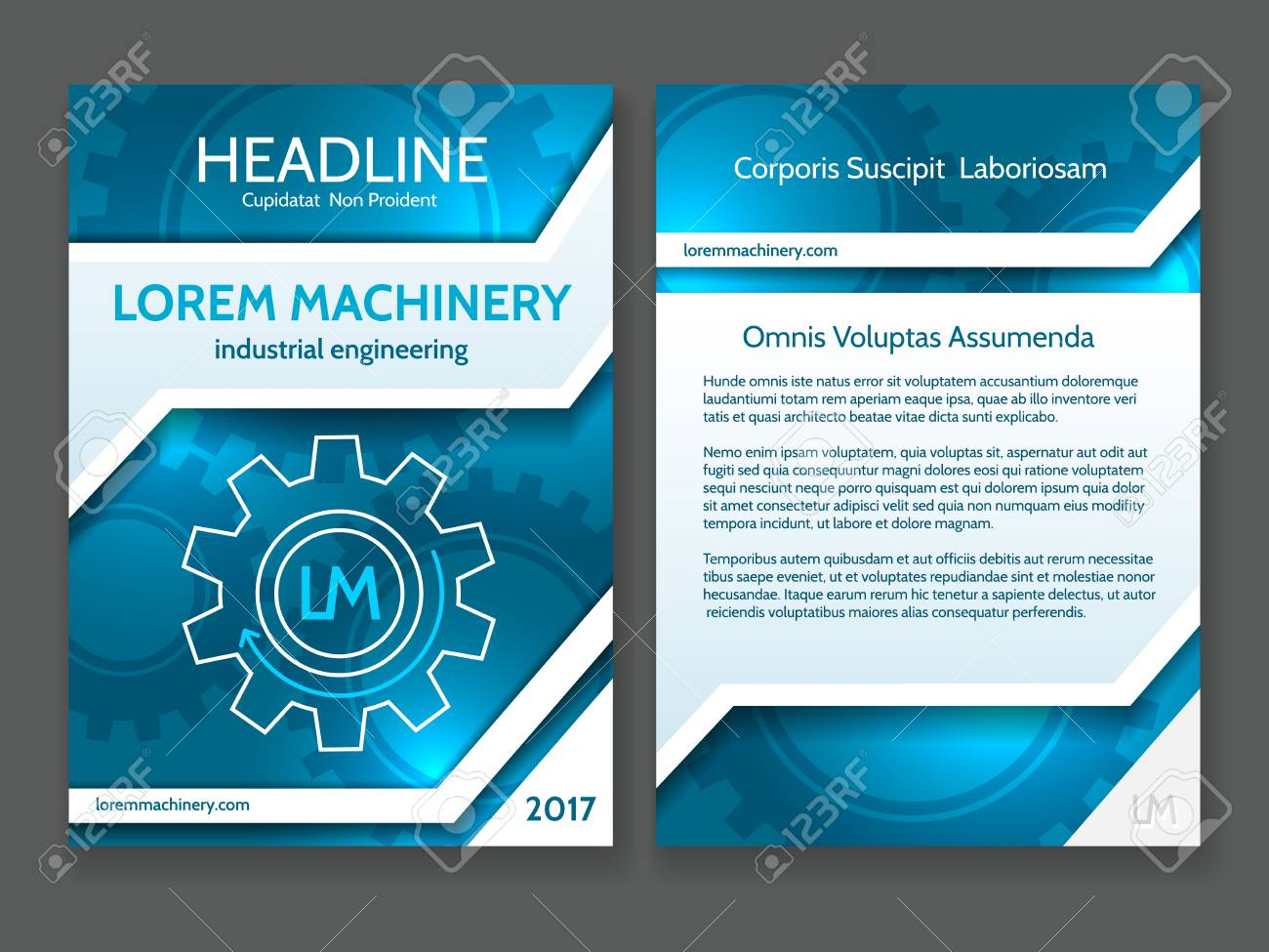 Abstract Technology Brochure Template Modern Digital Technology - Technology brochure template