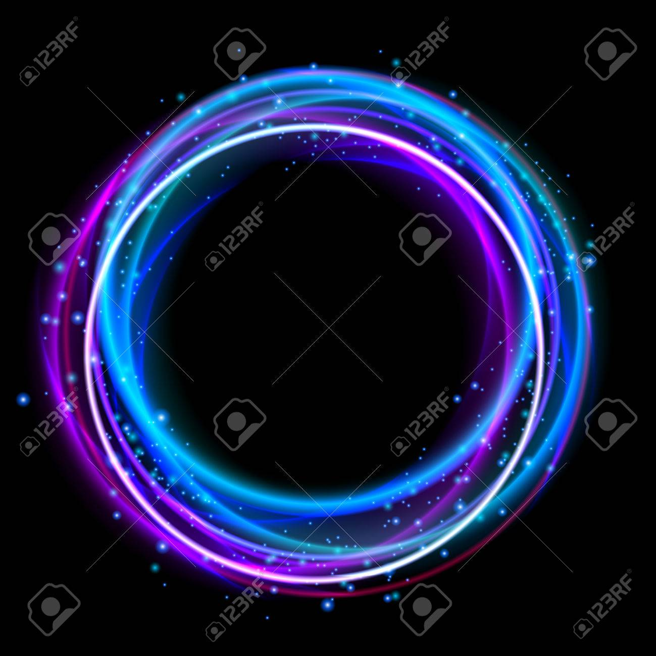 glowing circle light effect nightclub lights halo ring glow