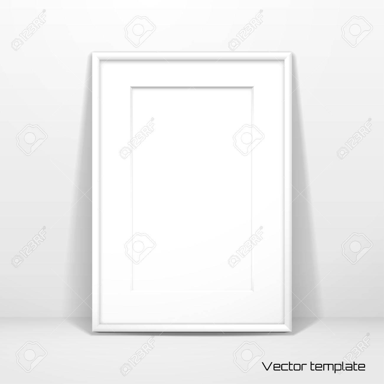 Vektor-Vorlage. Bilderrahmen Design Mit Passepartout. Realistischer ...