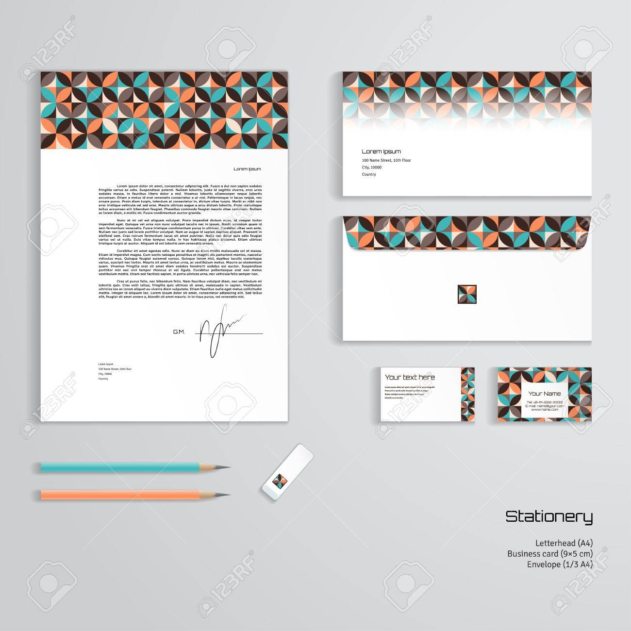 Business Card Letterhead Envelope Design Gallery - Card Design And ...