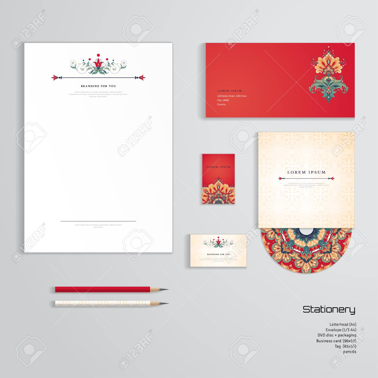 Vector identity templates letterhead envelope business card vector identity templates letterhead envelope business card tag disc with packaging fbccfo Gallery
