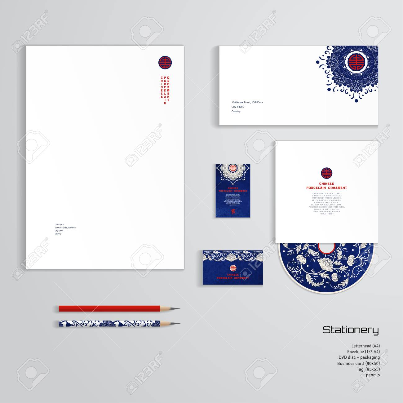 Vector Identity Templates. Letterhead, Envelope, Business Card ...