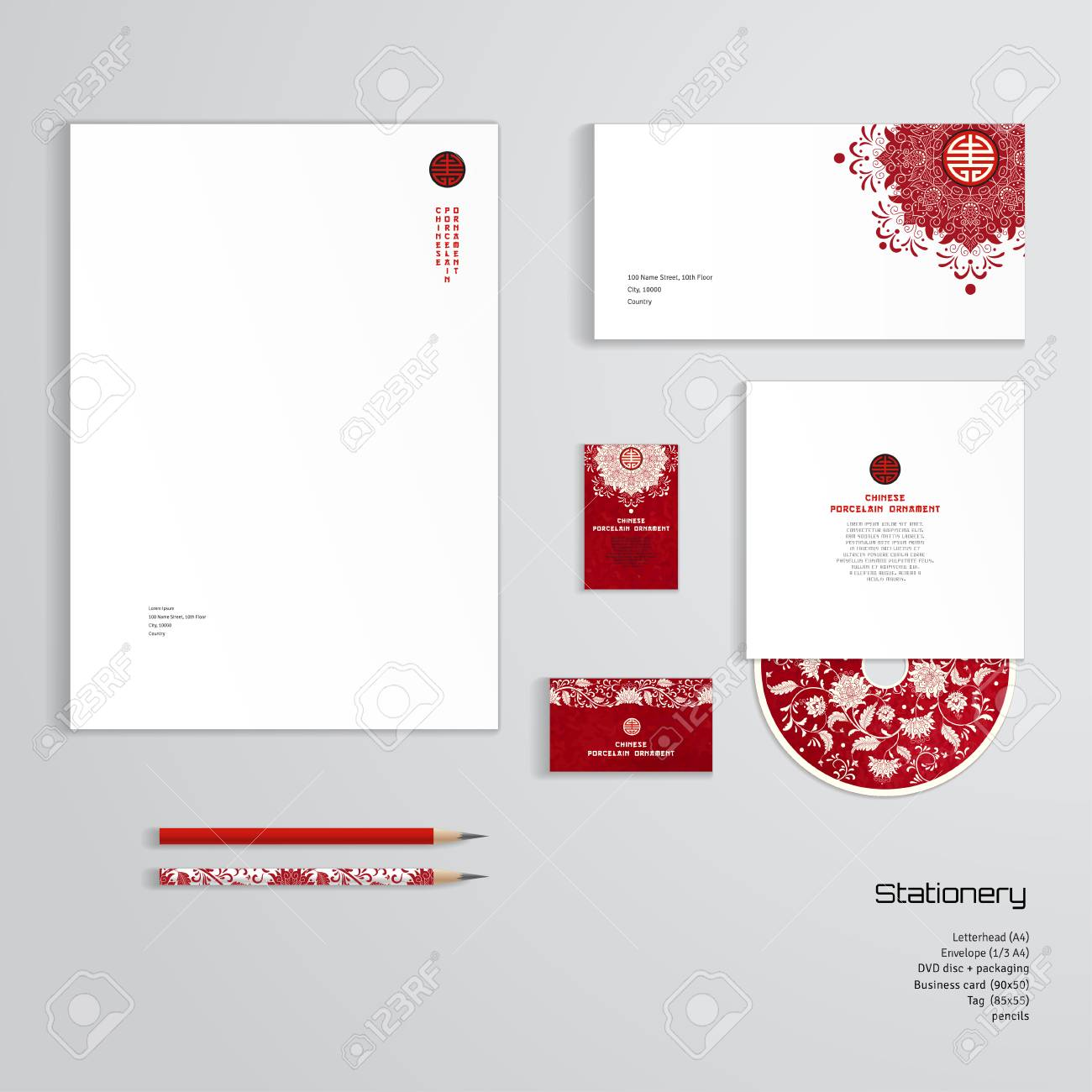 A vector identity templates letterhead envelope business card a vector identity templates letterhead envelope business card tag disc with reheart Image collections