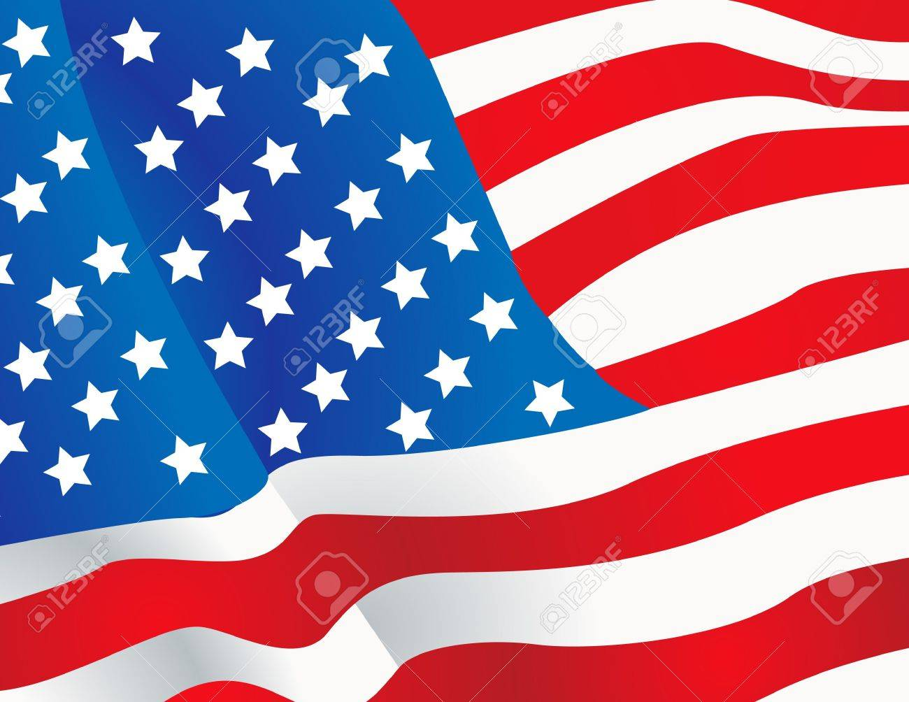 Vector illustration United States flag Stock Photo - 10219996