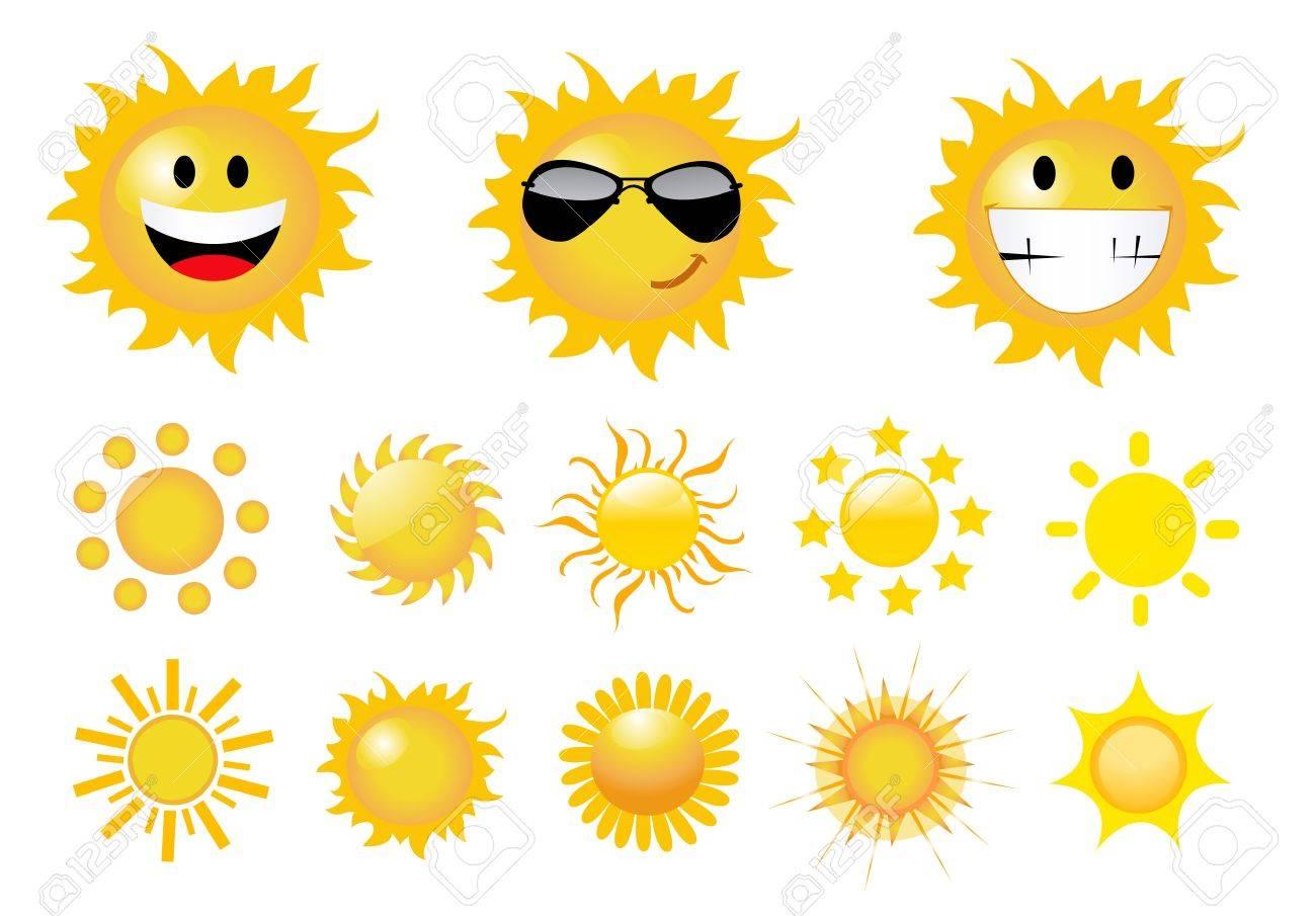 set of sun vector Stock Vector - 10220007