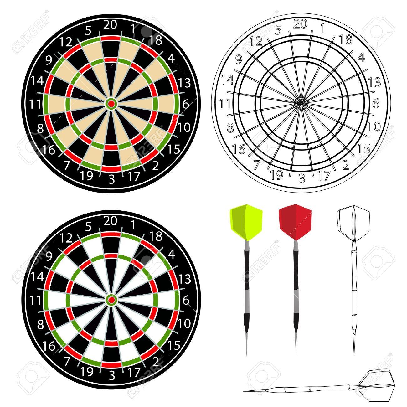 Darts vector - 13737808