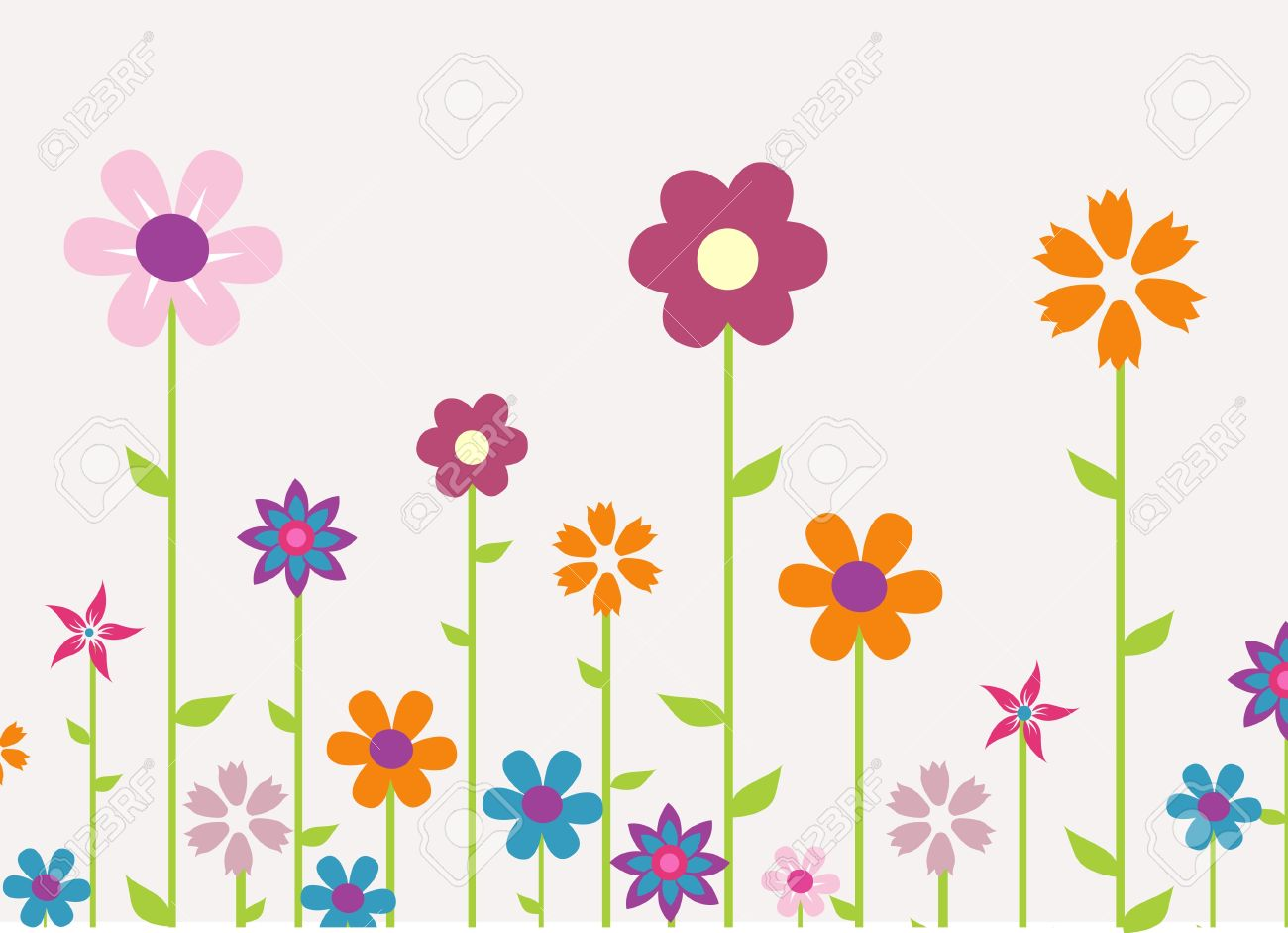 Colorful Spring Flowers Vector Illustration Royalty Free Cliparts Vectors And Stock Illustration Image 18001646