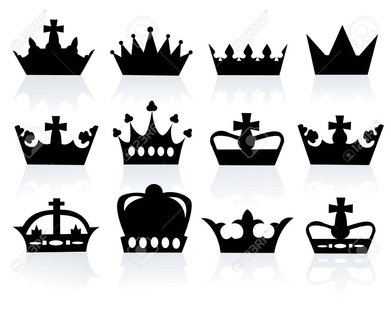 illustration of different crowns Stock Vector - 18989382