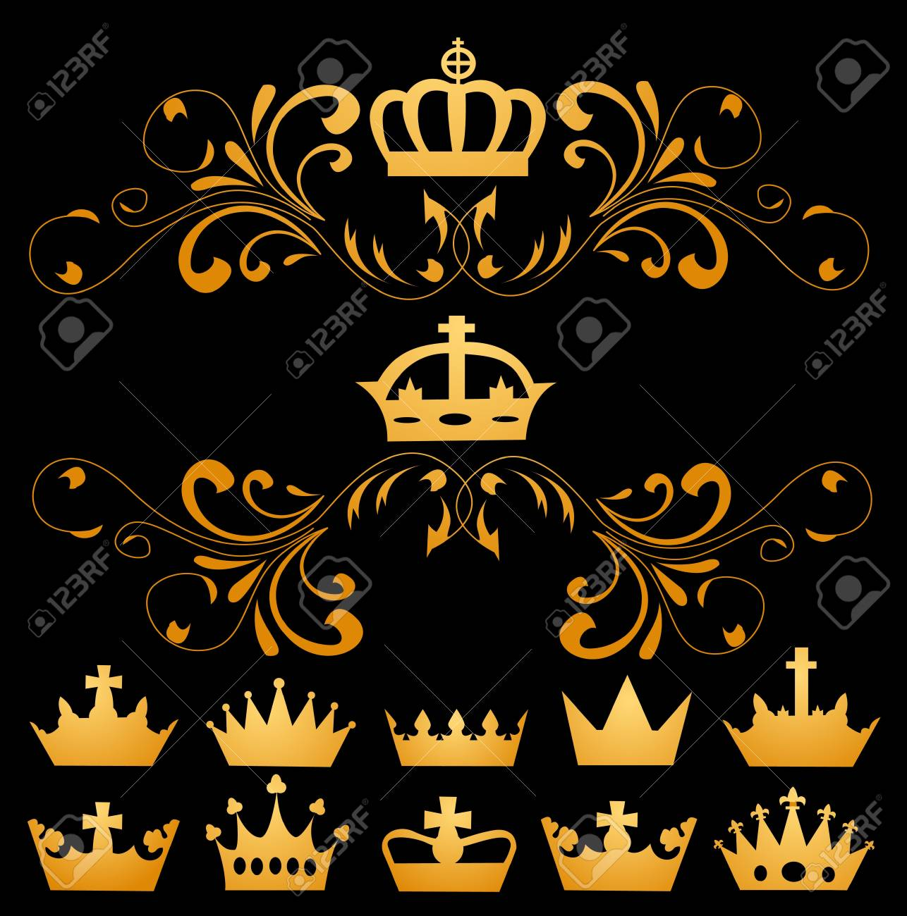 illustration of different crowns Stock Vector - 19351378