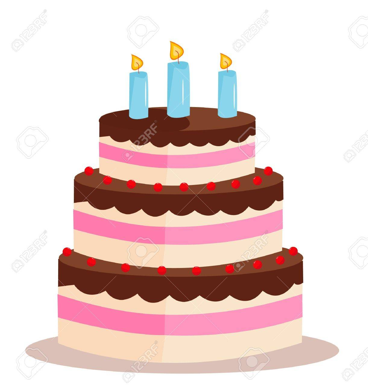 Sweet cake for birthday holiday Stock Vector - 20929199