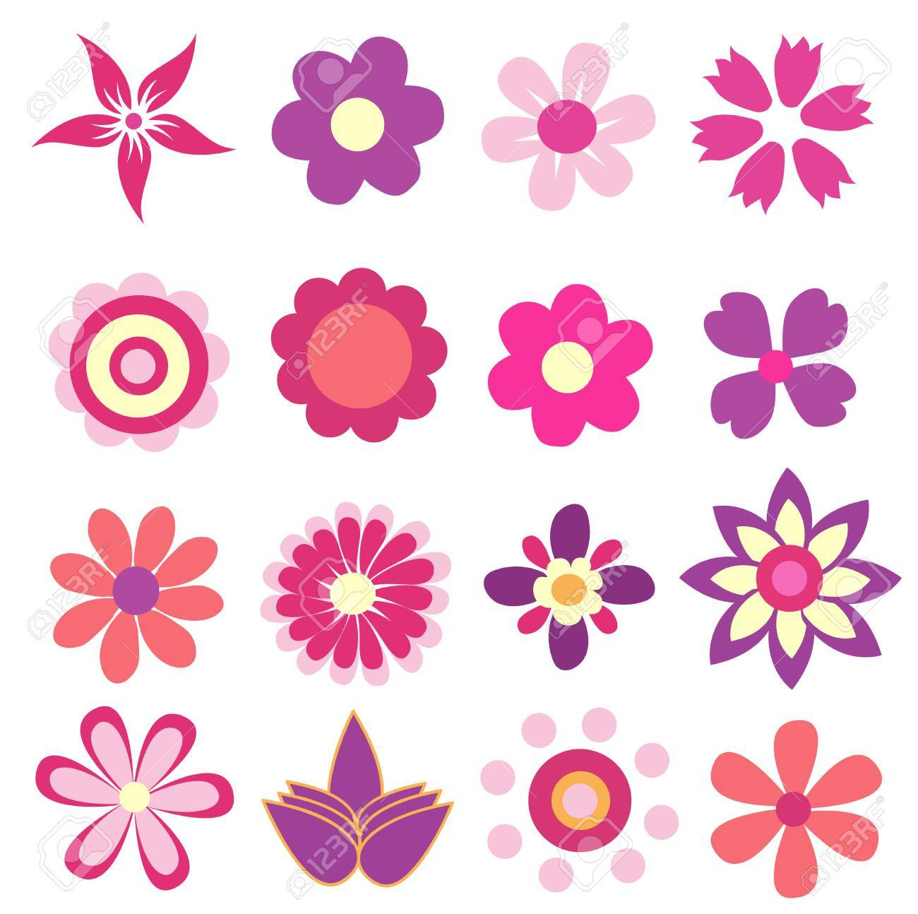 colorful spring flowers vector illustration - 27919865