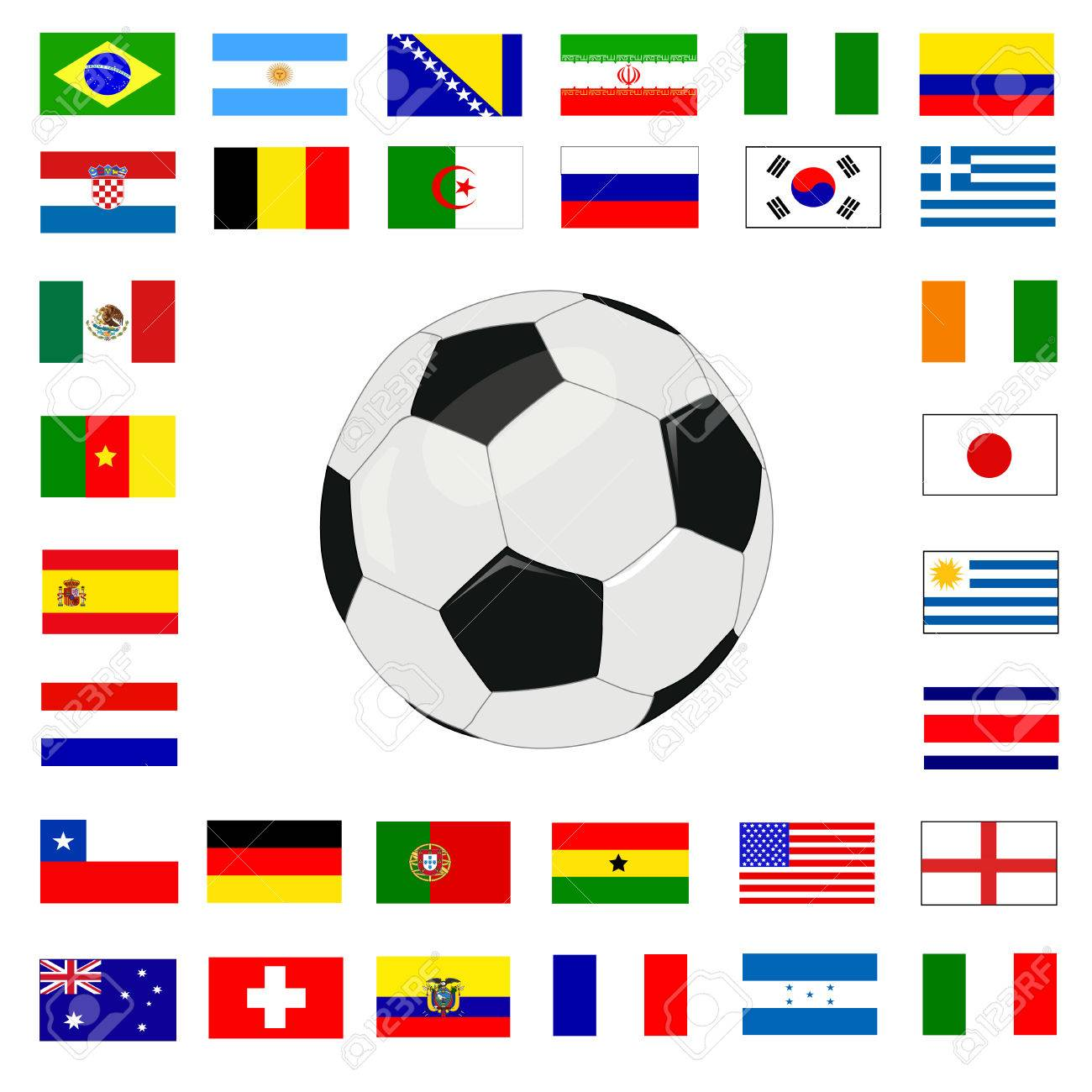 soccer championship 2014 Stock Vector - 27919886