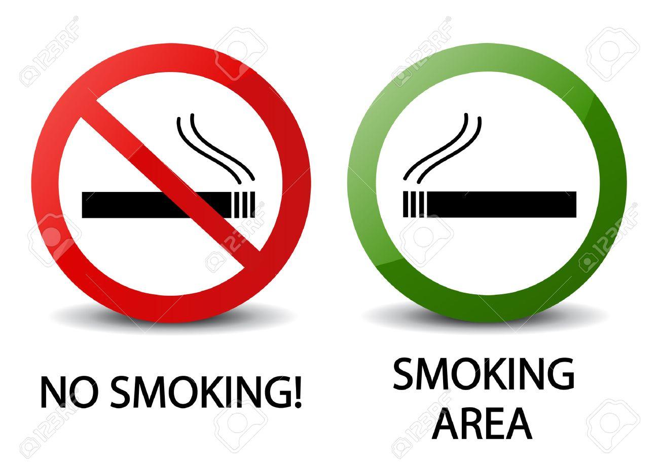 No smoking and smoking area signs - 30680636