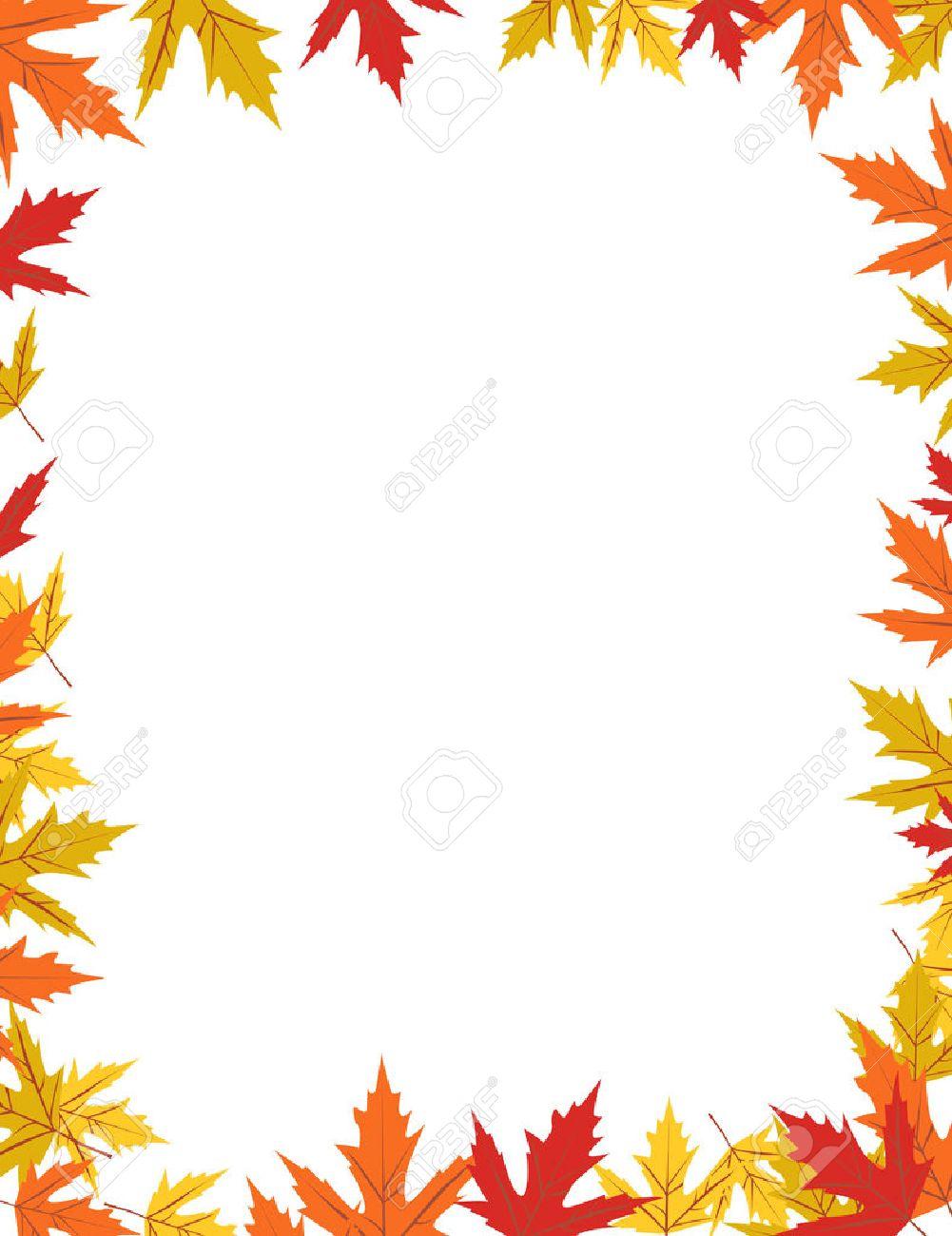 autumn border design vector illustration royalty free cliparts