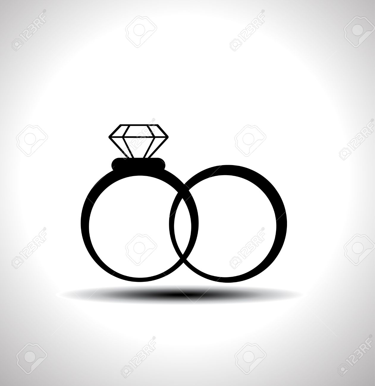 Wedding rings vector  Vector Black Wedding Rings Icon Royalty Free Cliparts, Vectors ...