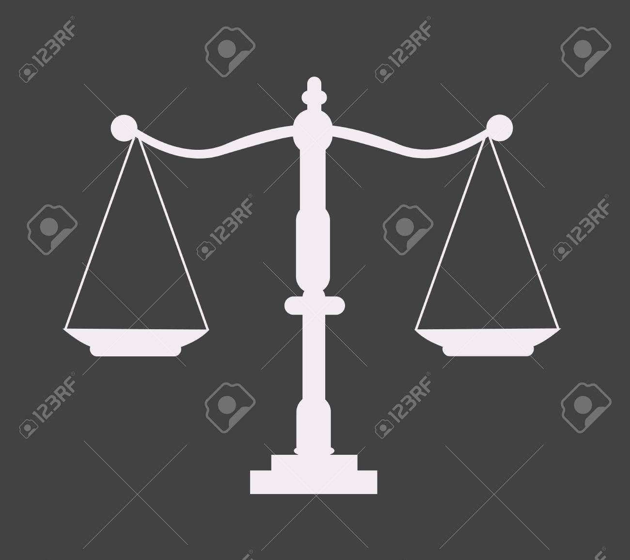 Justice scale icon - 40207467