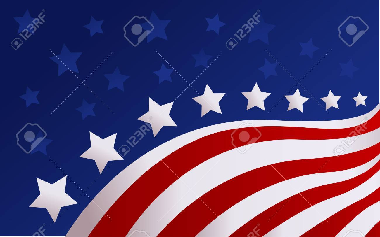 USA flag in style vector - 40818917