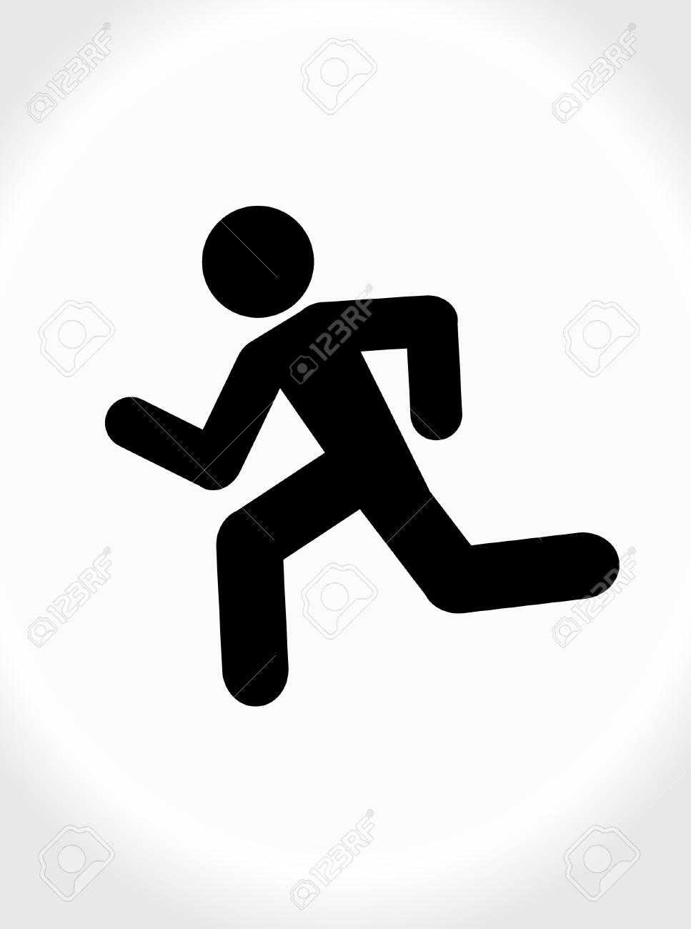 Running Man Icon Background Royalty Free Klipartlar Vektör çizimler