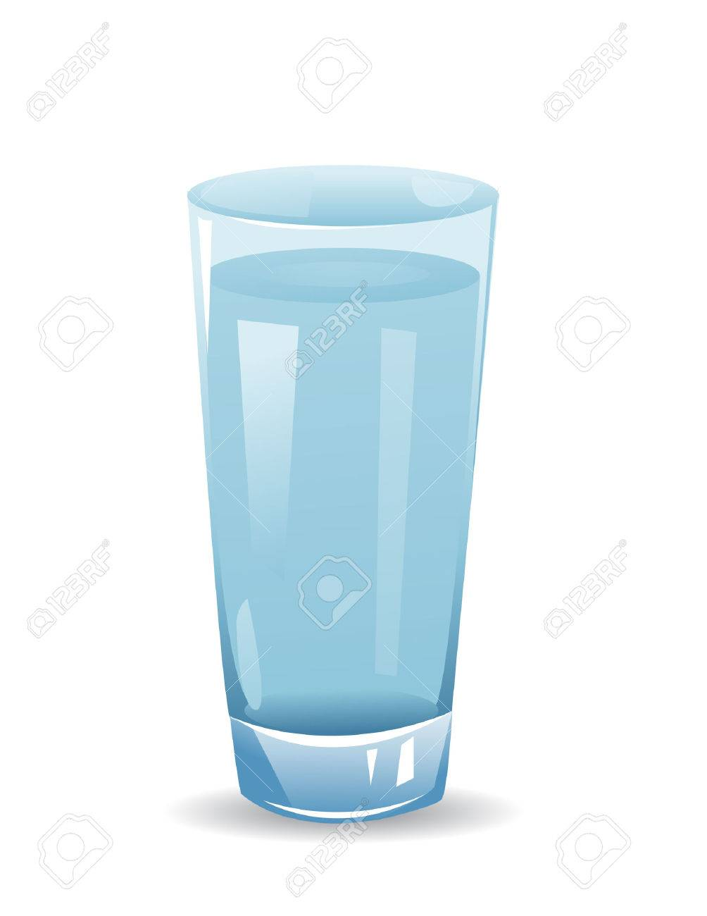 glass with water isolated illustration on white background - 43558683