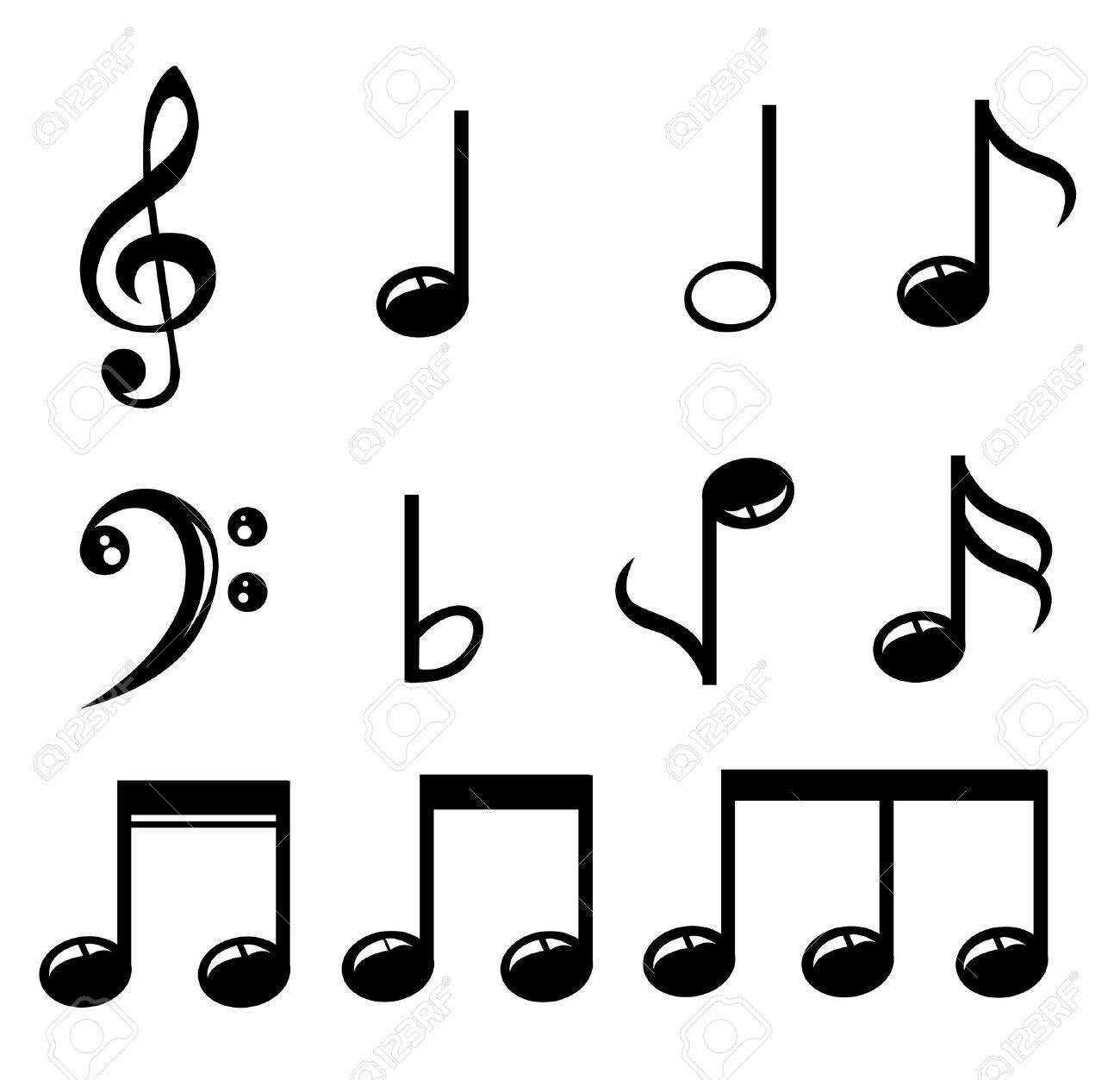 Set of music notes vector - 50898491