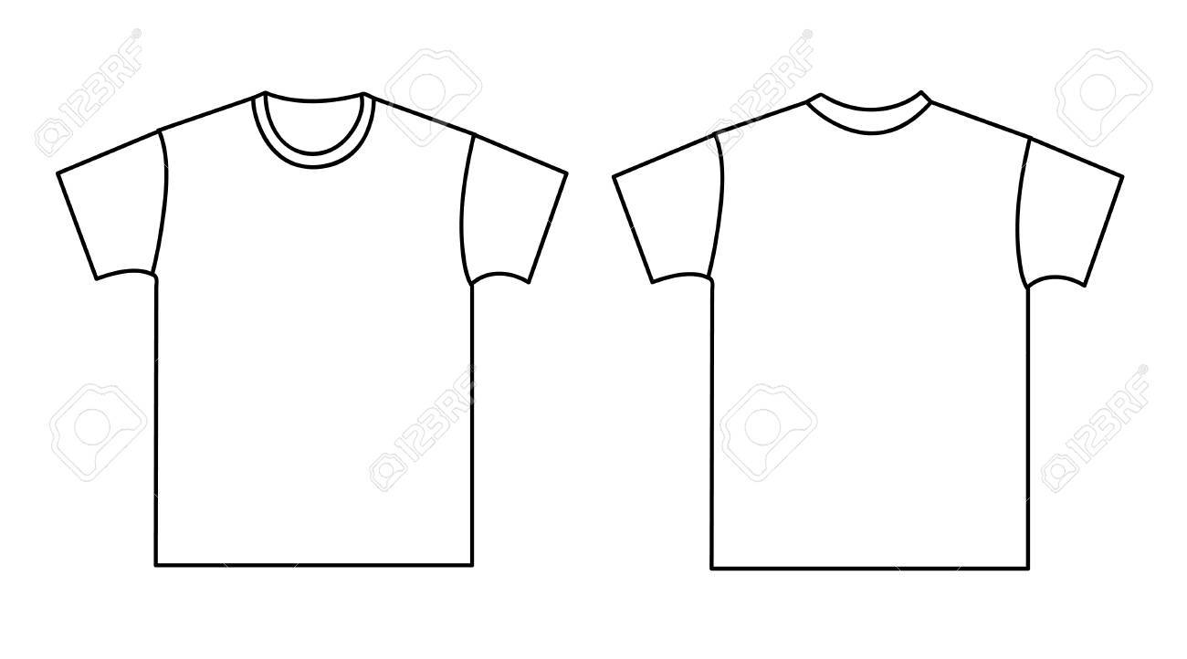 4051bf82 Blank T-shirt Template. Front And Back Royalty Free Cliparts ...