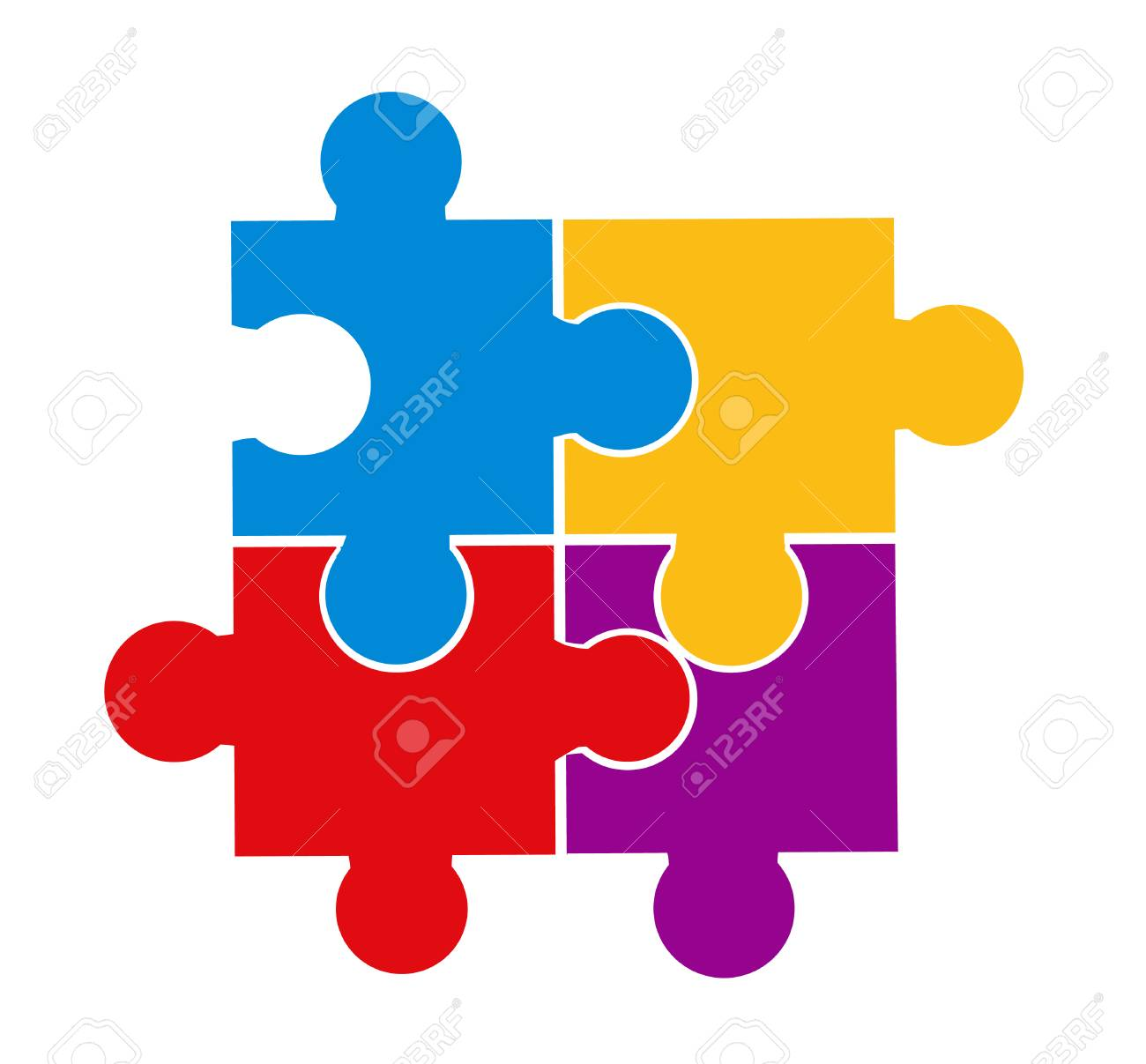 Vector illustration of puzzle pieces - 121667421