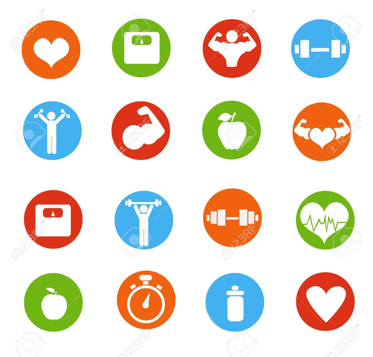 Fitness icons vector illustration - 129264854