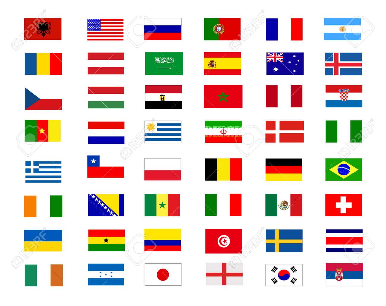 colored flags illustration design - 140686214
