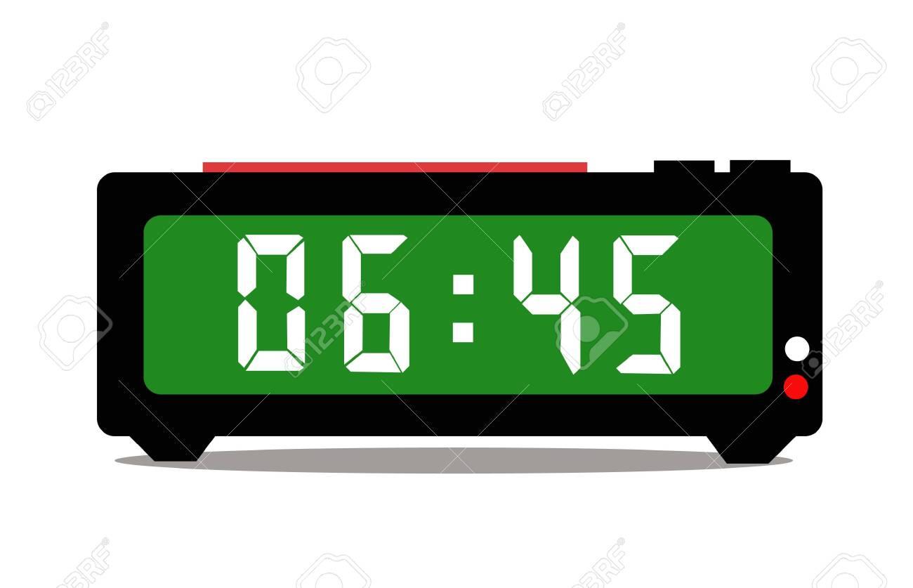 Digital alarm clock vector - 142810577
