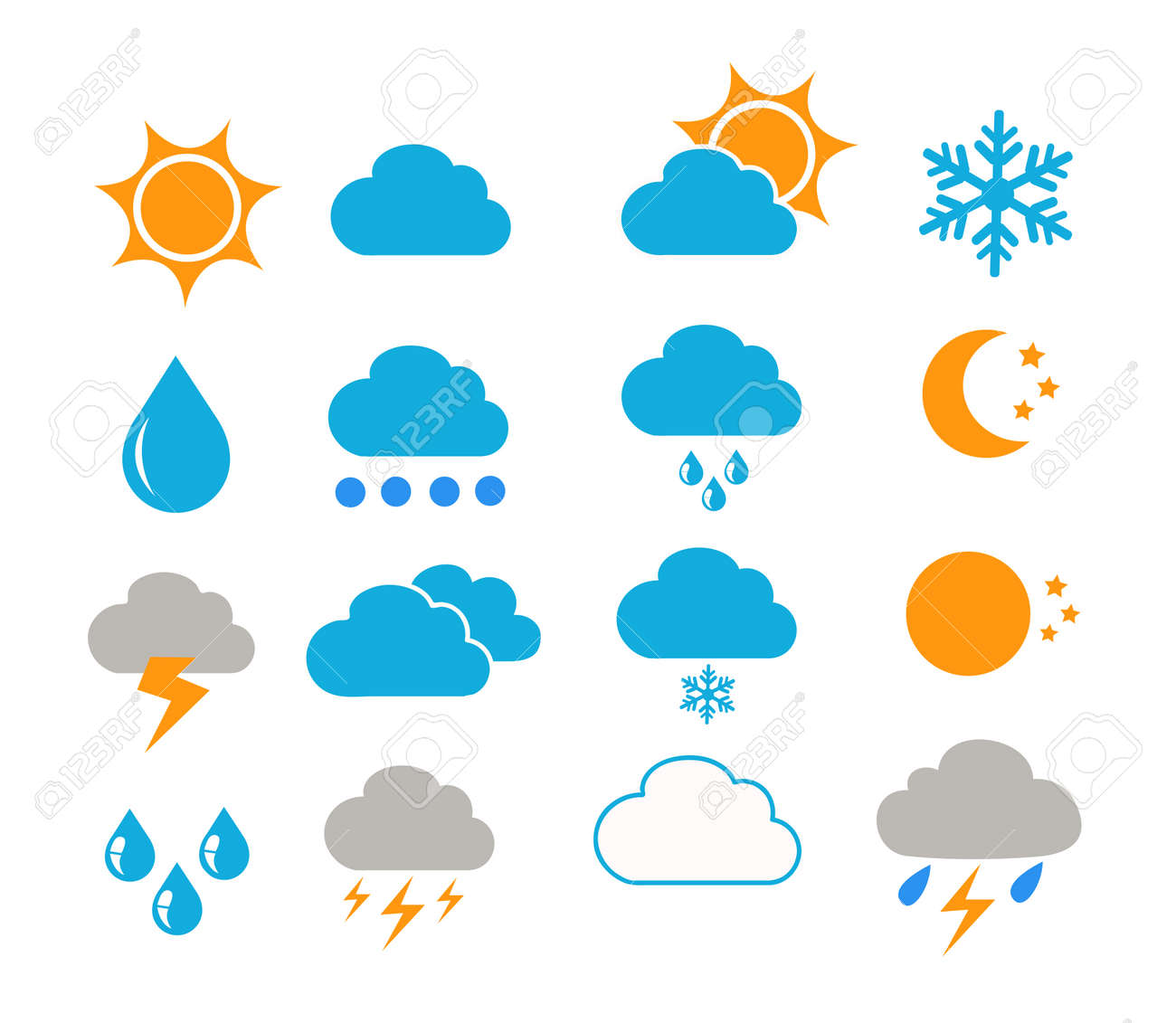weather icons vector illustration - 157751979