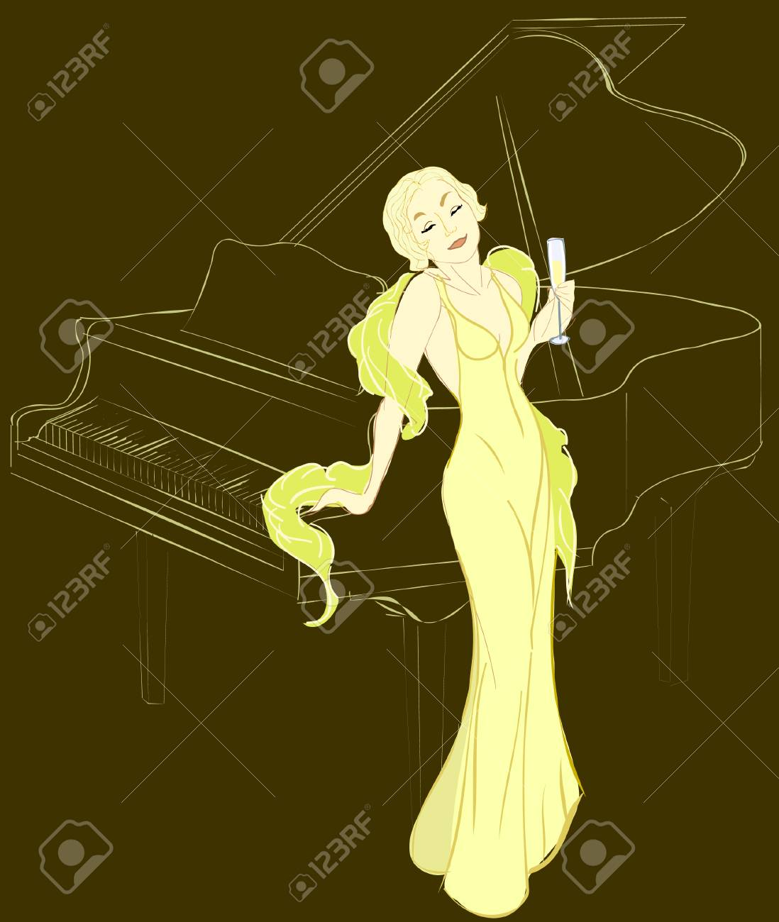 Diva's song Stock Vector - 3635105