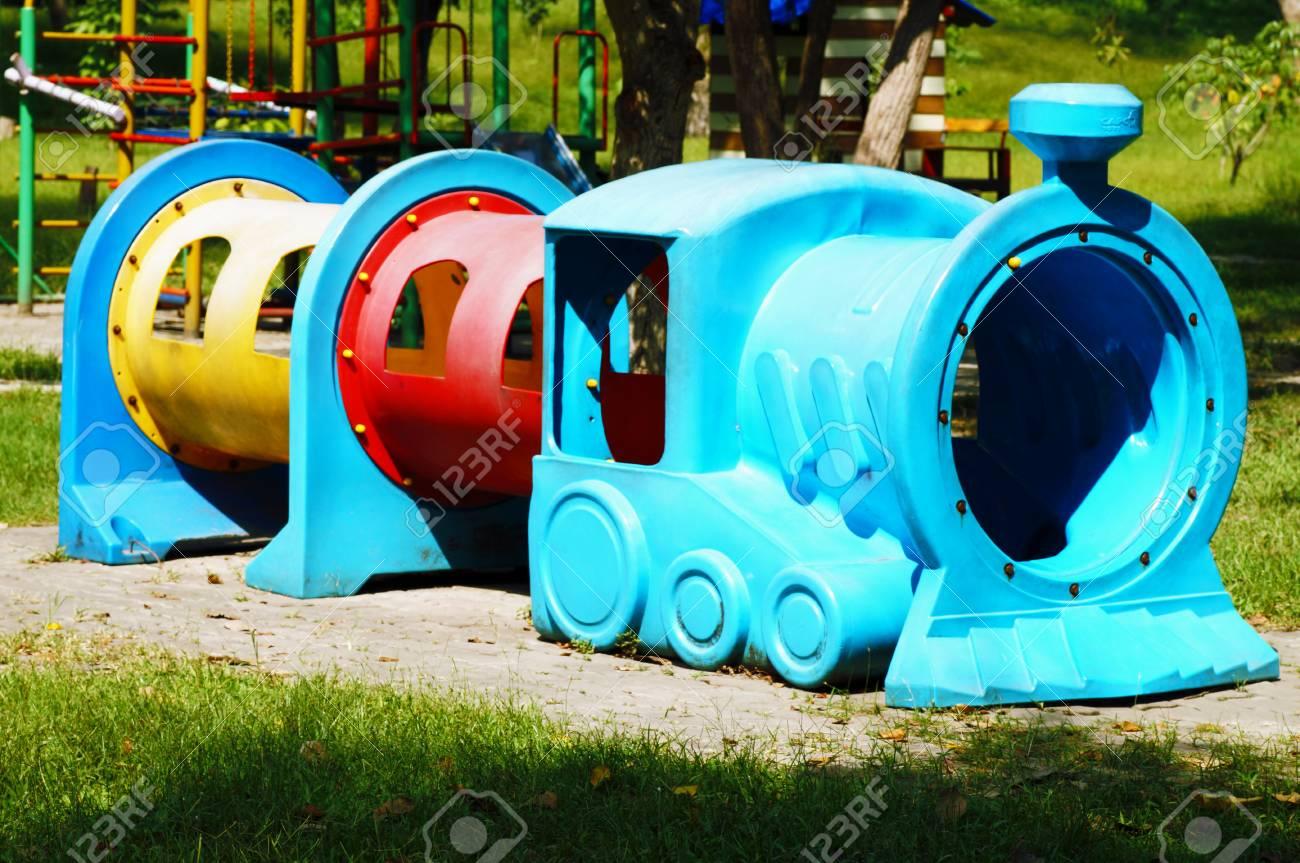 Playground For Children In Gardent Stock Photo   41918941