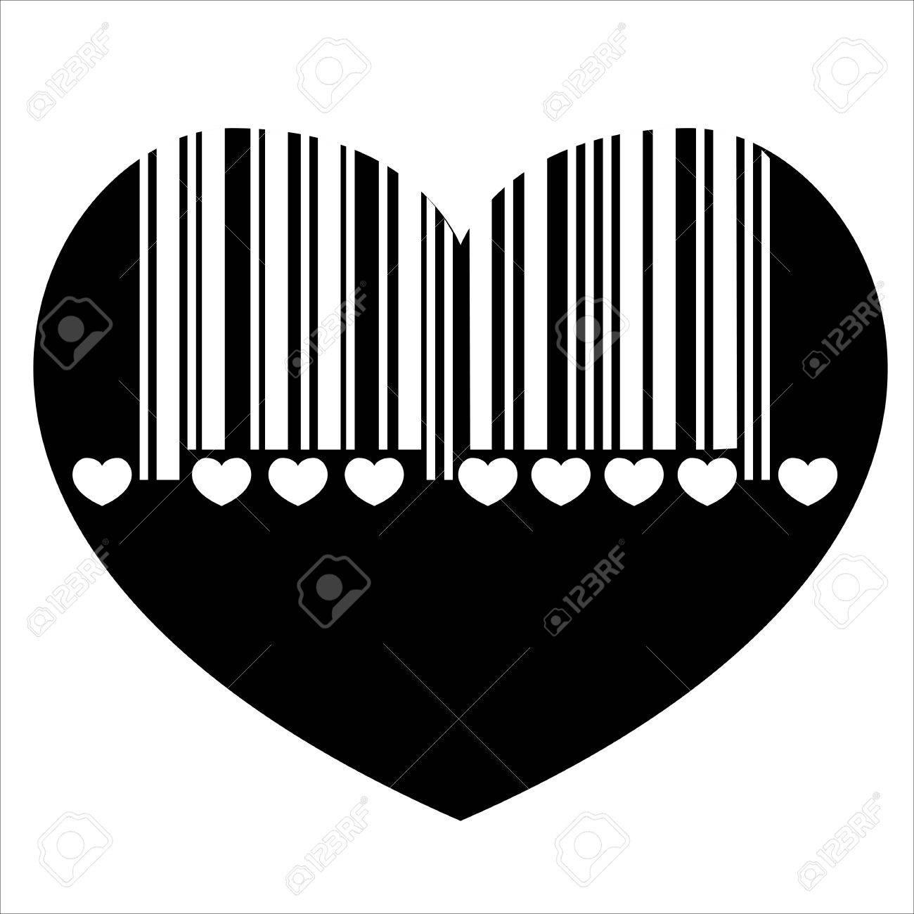barcode heart Stock Vector - 19776326
