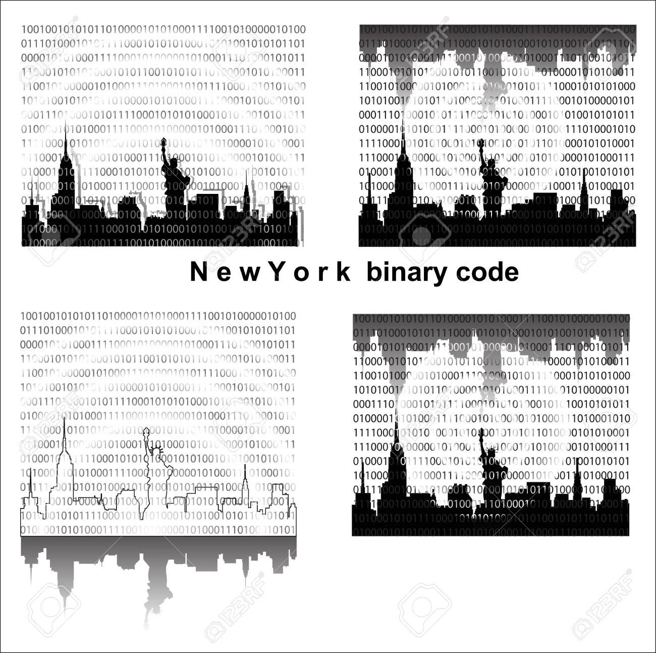 Naw York binary code Stock Vector - 20044151