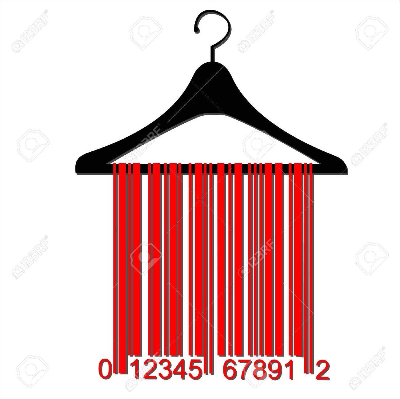 barcode clothes hanger Stock Vector - 20044014