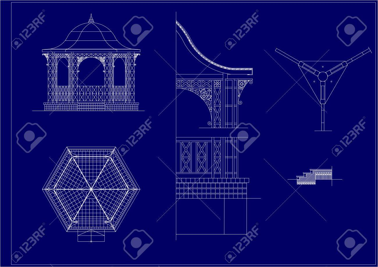 architectural sketch of the Music Pavilion; Stock Vector - 20043859