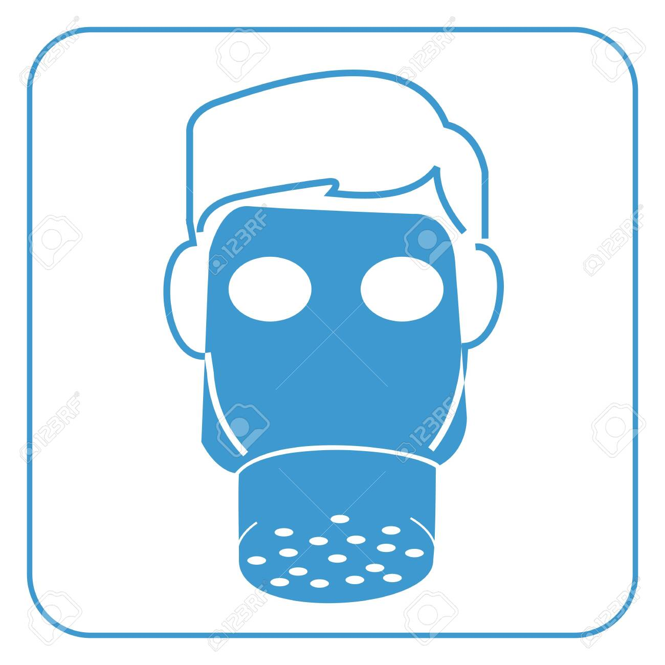 gas mask-safety equipment  symbol, vector Stock Vector - 20240363